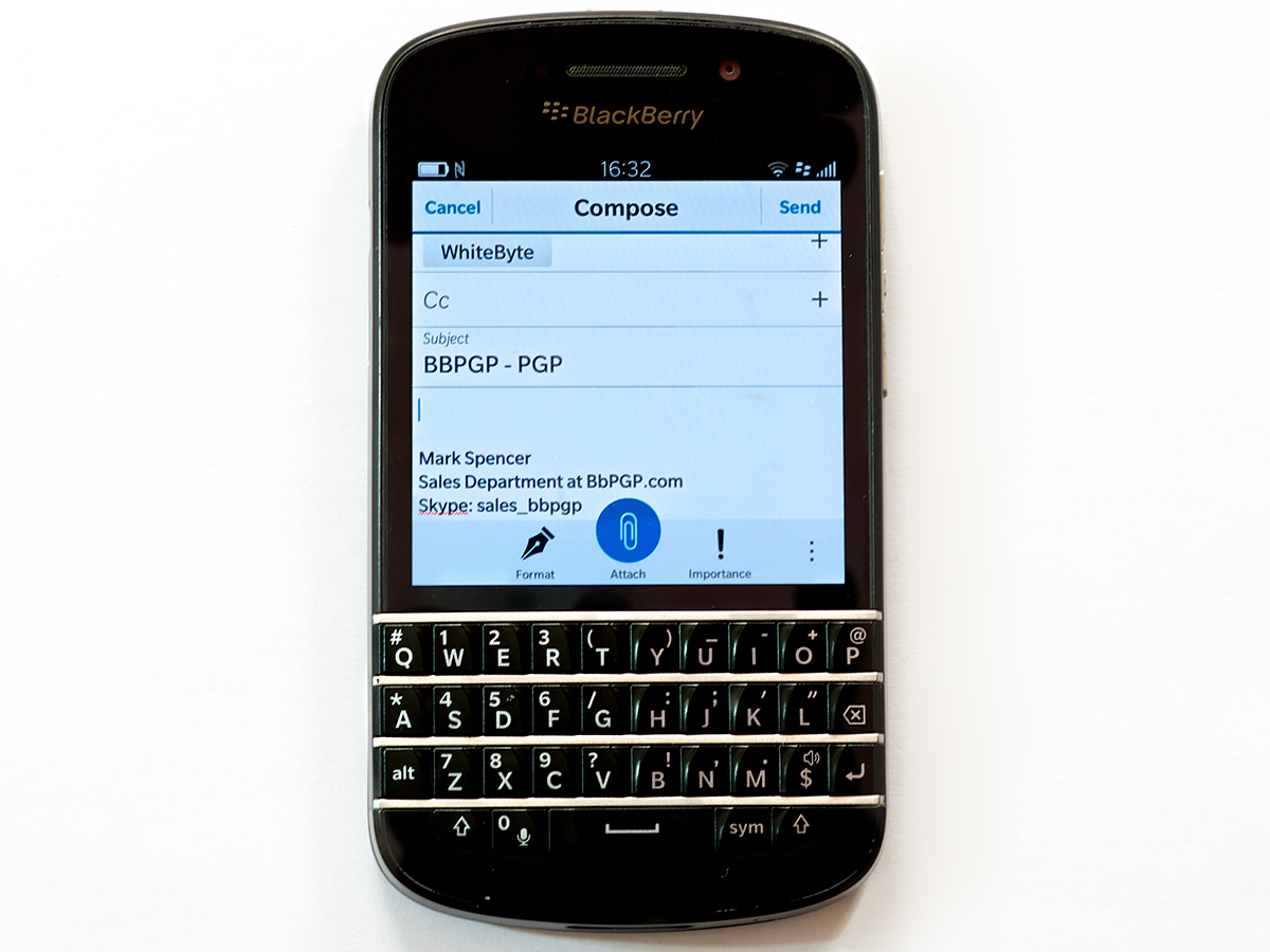 blackberry pgp