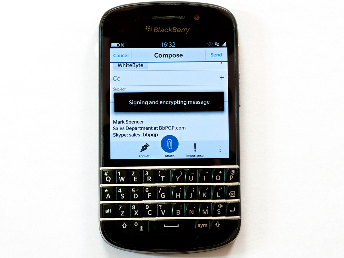 blackberry pgp encryption